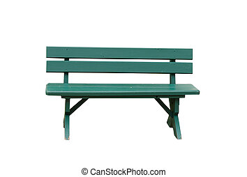 Green wooden chair.