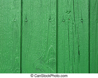 Green wooden wall