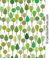 Green woods seamless pattern for kids