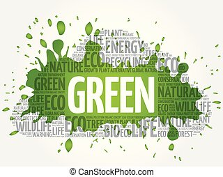 GREEN word cloud