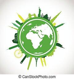 green world landscape cityscape