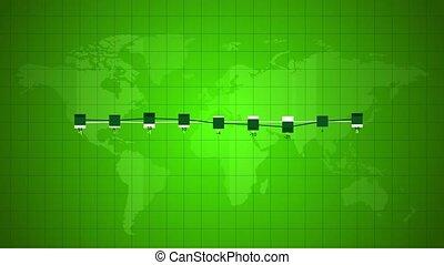 Green world linear chart