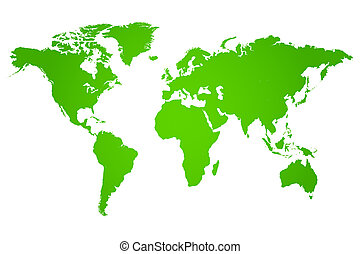 Green World Map Illustration