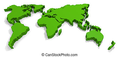 Green world on white
