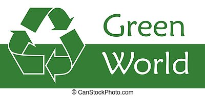 Recycle symbol or sign of conservation green icon Vector symbol on the packaging