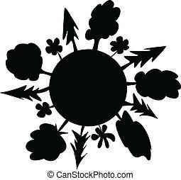 green world silhouette