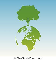Green world, vector