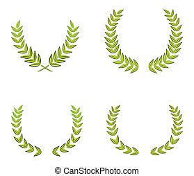 green wreaths