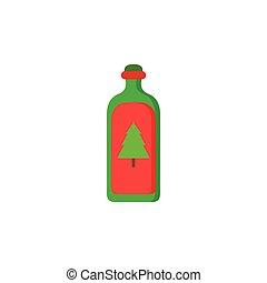 Green Xmas Bottle