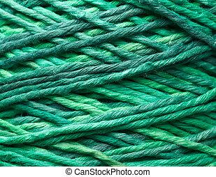 Green yarn roll