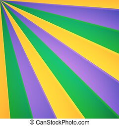 Green, yellow and violet rays vector carnival background