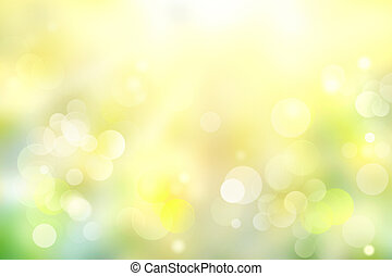 Green yellow blurred bokeh abstract soft light background.
