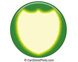 Green Yellow Button Blank