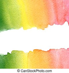 green, yellow, orange watercolor