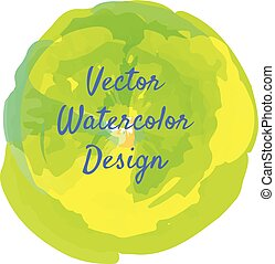 Green yellow watercolor circle