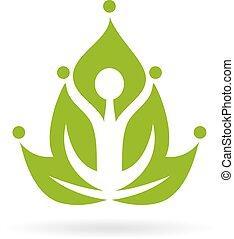 Green yoga meditation icon isolated on white background