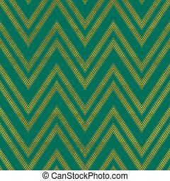 Green zigzag seamless pattern with grunge effect.