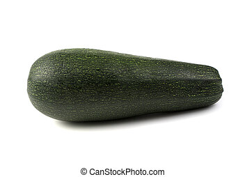 Green zucchini on a white background with space to copy.