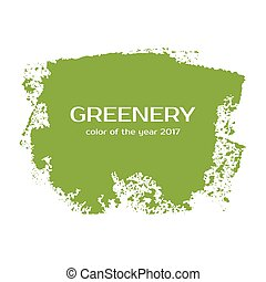 Greenery - color of the year 2017. Vector grunge green spot.