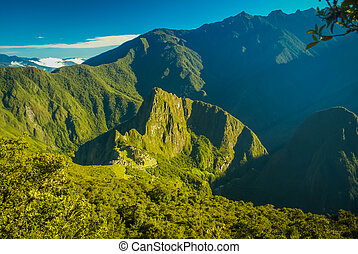Greenery in Peru - Wilderness with mountainous region and...