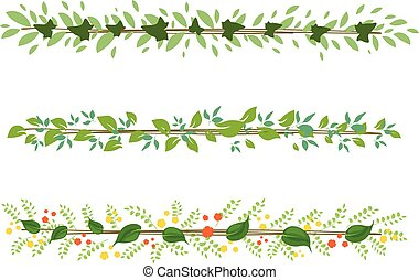 greenery tropical leaves strips