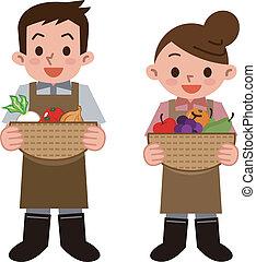Greengrocer - Vector illustration.