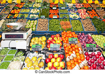 Greengrocer\'s shop - Greengrocers\' shop, with an...