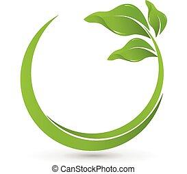 greenhealthy, ロゴ, ベクトル, leafs