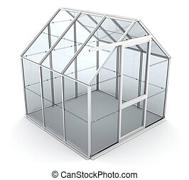 Greenhouse - 3D render of a greenhouse
