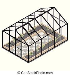 Greenhouse at an organic farm