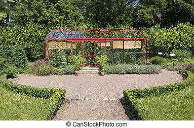Greenhouse Driveway - Driveway to tidy greenhouse in lush ...