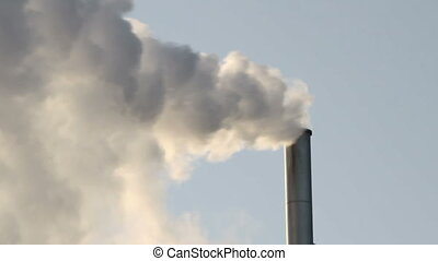 Greenhouse gas - Heavy smoking chimney