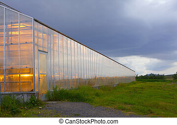 Greenhouse geothermal - Shining greenhouse geothermal heated...