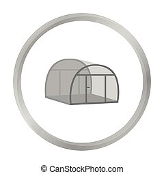 Greenhouse icon of vector illustration for web and mobile