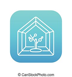 Greenhouse line icon. - Greenhouse line icon for web, mobile...