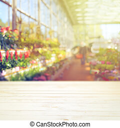 Greenhouse montage display mock up