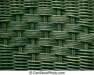 Greenish Old Wicker Weave Texture - texture, background, or...