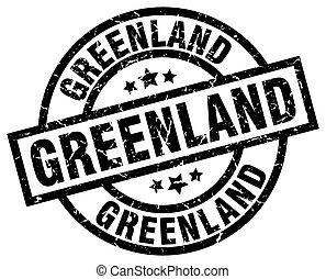 Greenland black round grunge stamp