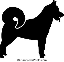 Greenland Dog silhouette black
