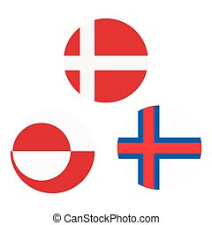Greenland, Faroe Island and Denmark