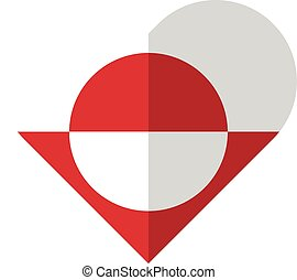 Greenland flat heart flag
