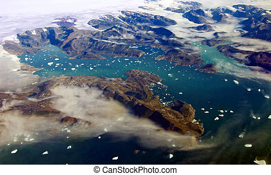 Greenland Glacier - Glacier at coast near Kulusuk in west...