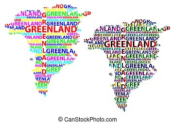 Greenland map - Sketch Greenland letter text map, Greenland...