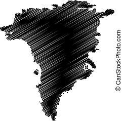 Greenland map vector