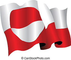 greenland national flag