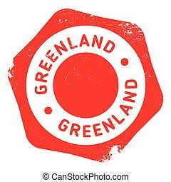 Greenland stamp rubber grunge