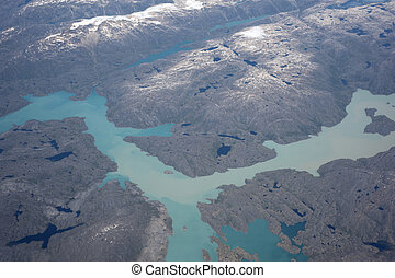 Greenland with mountains and the ocean shore - Greenland...