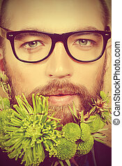 greenpeace - Portrait of a handsome man in spectacles and...