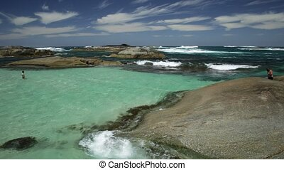 Greens Pool Australia - Sheltered Greens Pool from the waves...
