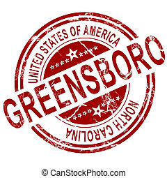 Greensboro stamp with white background